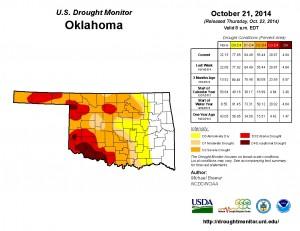 OK Drought Monitor 10-21-14