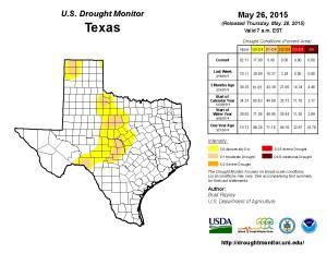 Texas Drought Monitor 5-26-15