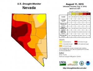 NV Drought Monitor 8-11-15