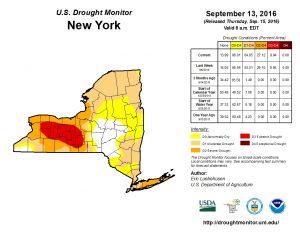NY Drought Monitor 9-13-16